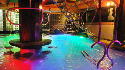 Indoor Swimming Pool with Jacuzzi of Penthouse Hotel for fun and party with privacy in Pattaya, Thailand.