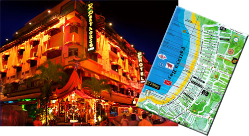 Click here for the bigger version of Penthouse Boutique Hotel Pattaya Map!