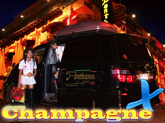 Privacy Champagne 'X' .... luxury pickup transport from Bangkok Airport or Hotel to Penthouse Hotel, Pattaya, Thailand ....